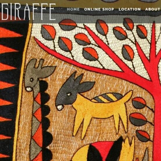 Giraffe home decor, gift shopping on Vashon Island