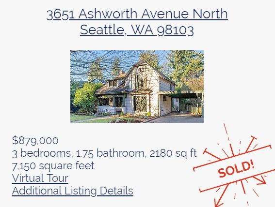 Vashon Island home sold by The Bunch Team