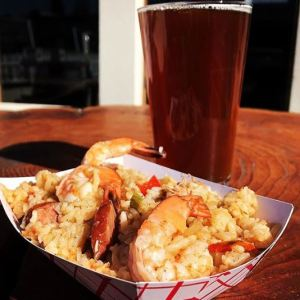 Camp Colvos Brewing is a great spot for meat pie... and beer!