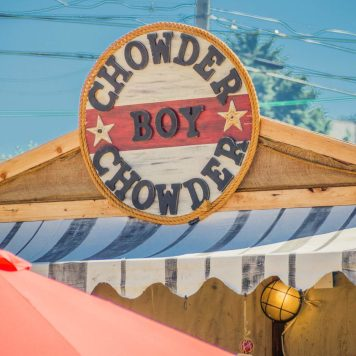 Chowder Boy Chowder Sign Salmon Bake 2018 Browns Point Washington