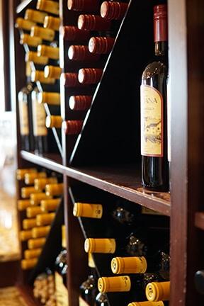 Bottles of wine at Castillo de Feliciana