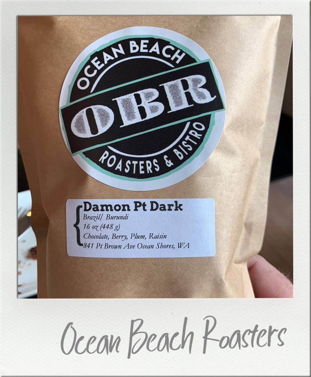 Bag of Ocean Beach Roasters Damon Pt Dark Coffee Beans