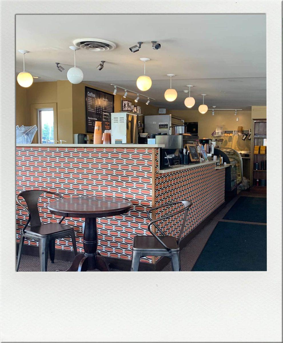 Coffee bar at Caffe Ladro in Lynnwood