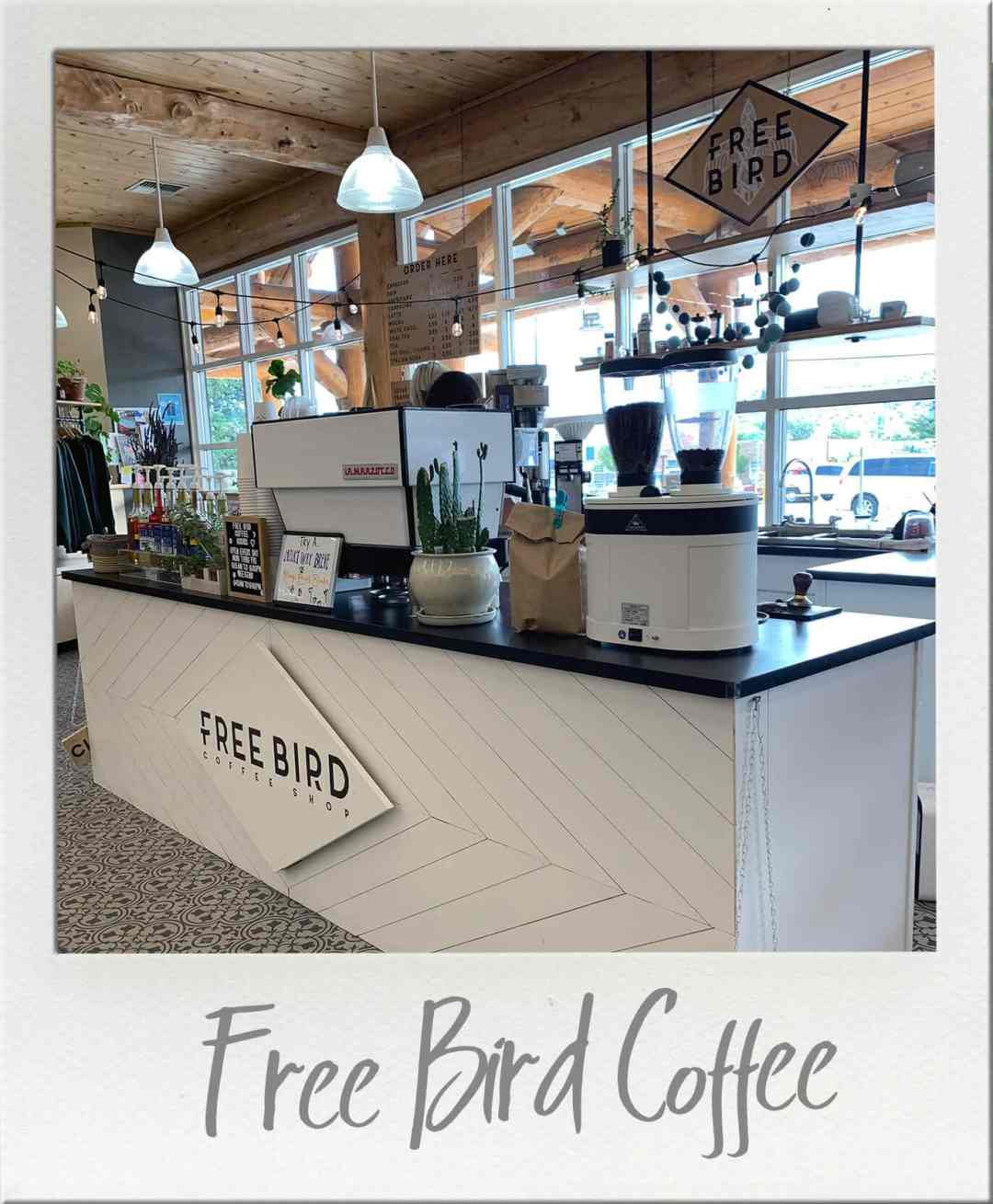 Espresso Bar at Free Bird Espresso in Okanogan Washington.