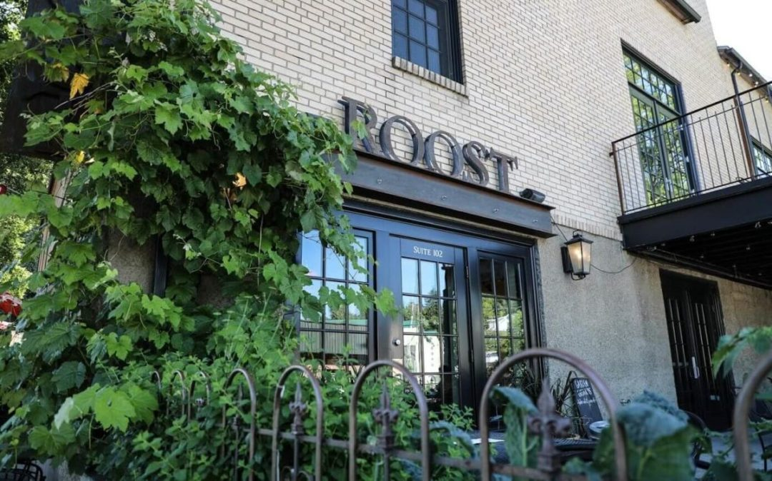 outside of roost coffee shop