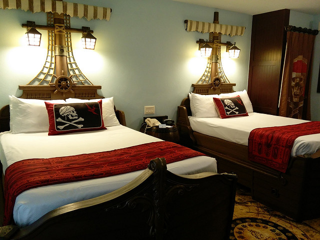 Pirate Rooms at Caribbean Beach Resort