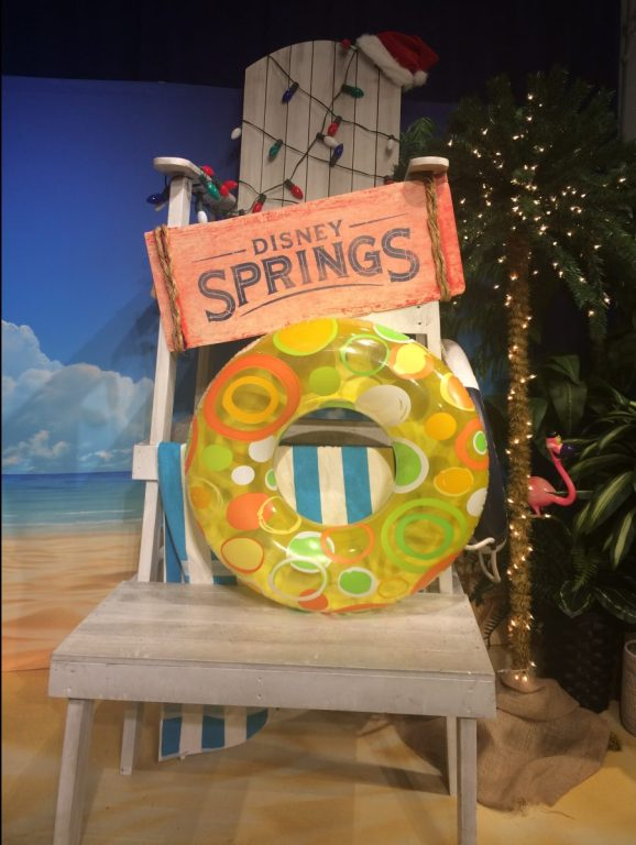 A giant lawn chair in Disney Springs