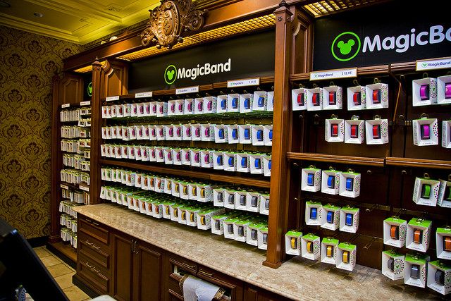 Rows of MagicBands sold at Walt Disney World