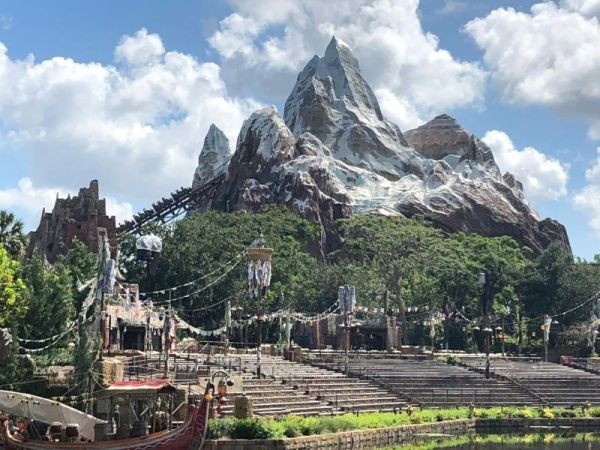 Expedition Everest in the distance at Disney's Animal Kingdom