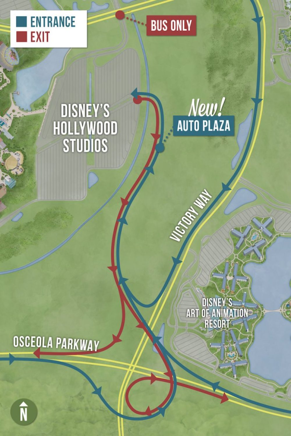 hollywood studios new auto plaza