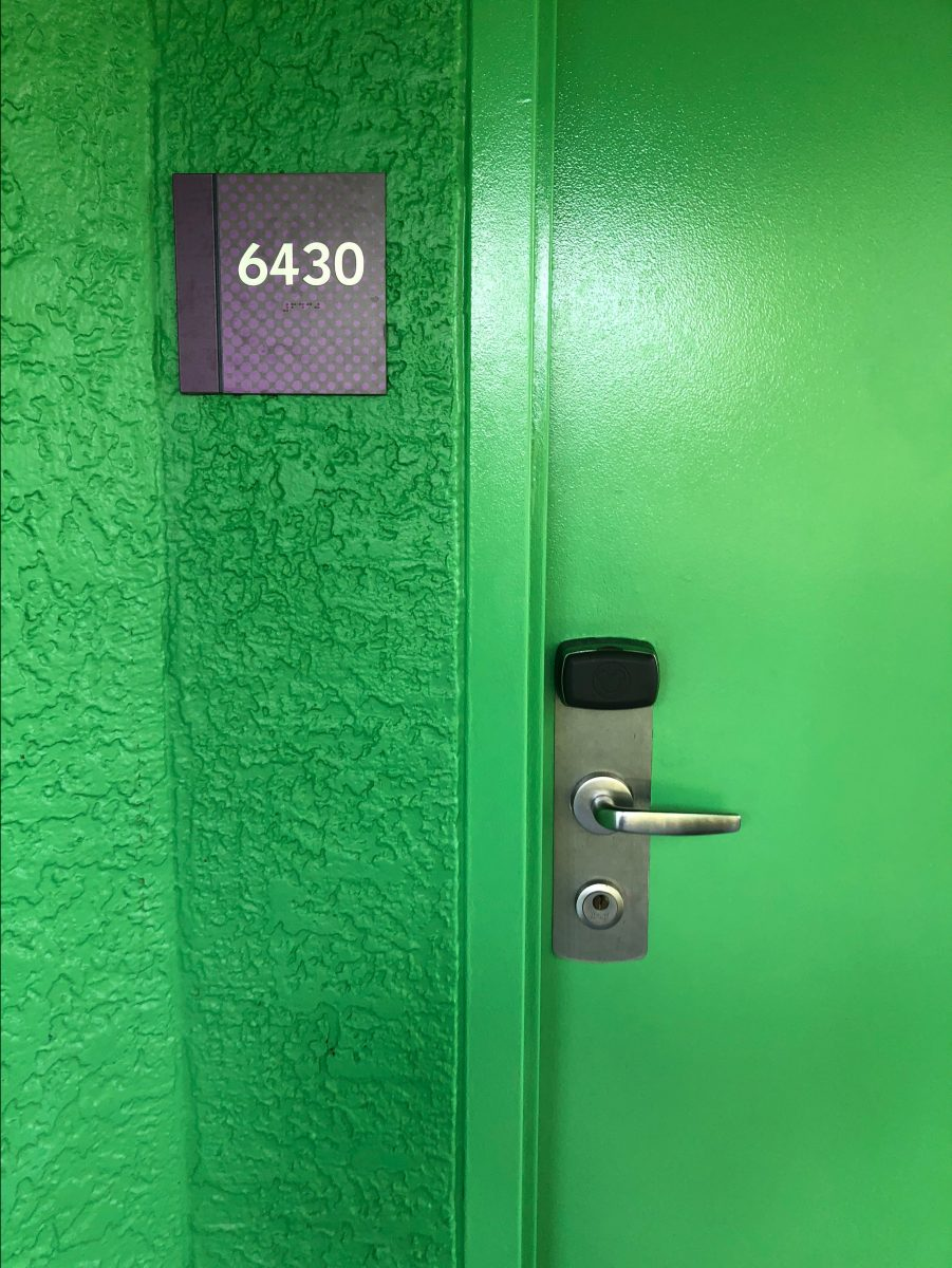 Green door at Disney's Pop Century Resort