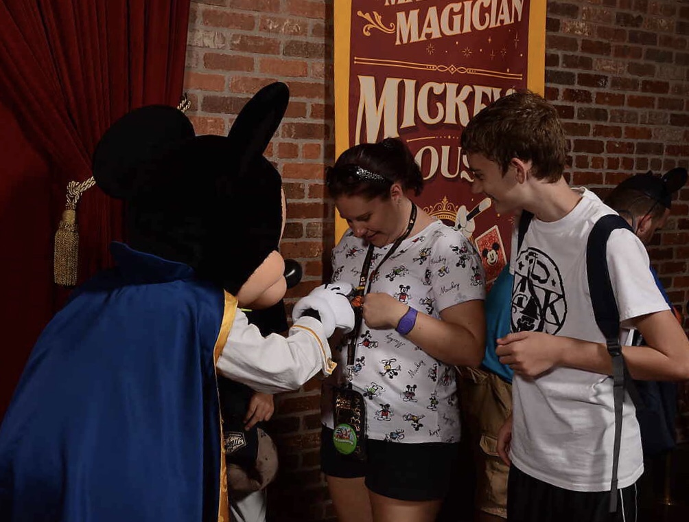 Meeting Mickey at Town Square Theater