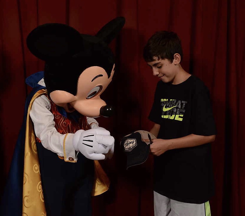 Meeting Mickey at Town Square Theater and getting an autograph
