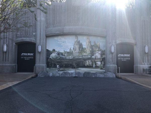 Entrance to Star Wars: Galaxy's Edge in Hollywood Studios