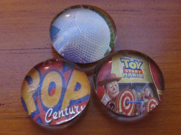 Pop Century Resort, Spaceship Earth, and Toy Story Mania! Magets - All made from Park Maps