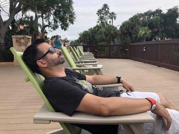 Relaxing at Disney's Caribbean Beach Resort