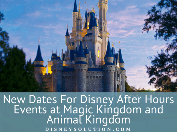 New Dates For Disney After Hours Events at Magic Kingdom and Animal Kingdom