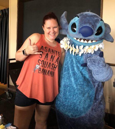 Meeing Stitch at Disney's Polynesian Village Resort