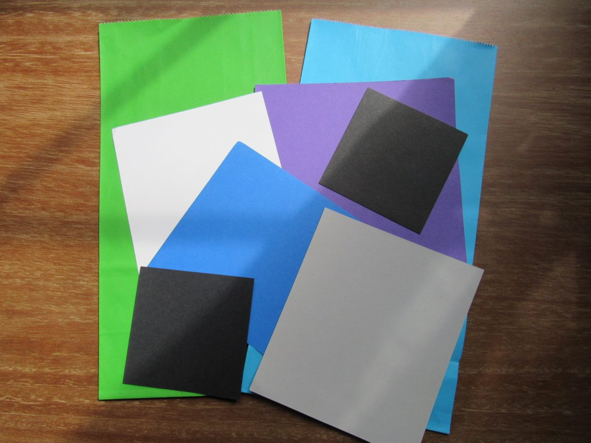 A pile of paper to create Monster bags
