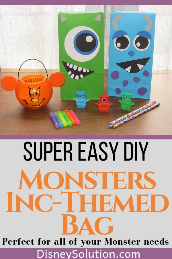 Super Easy DIY Monsters Themed Bag
