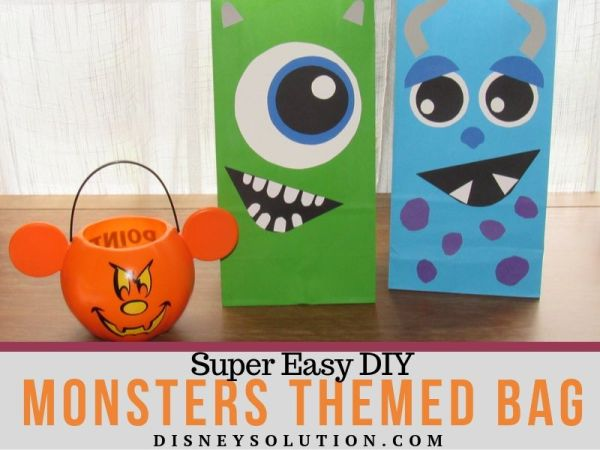 Super Easy DIY Monsters Themed Bag