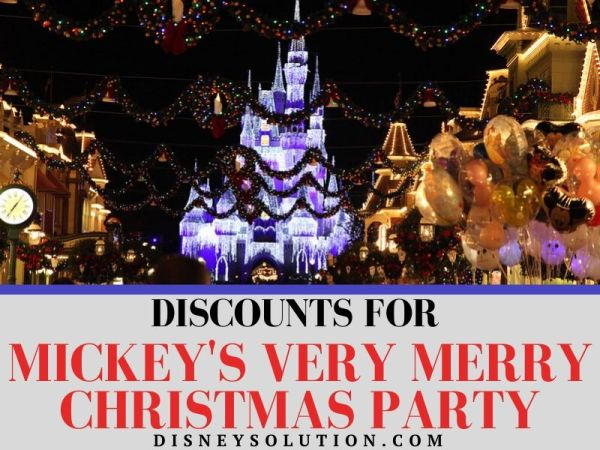 Discounts for Mickey's Very Merry Christmas Party Tickets
