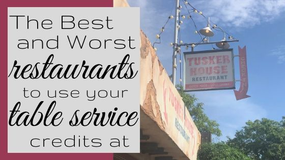 Best and Worst Table Service