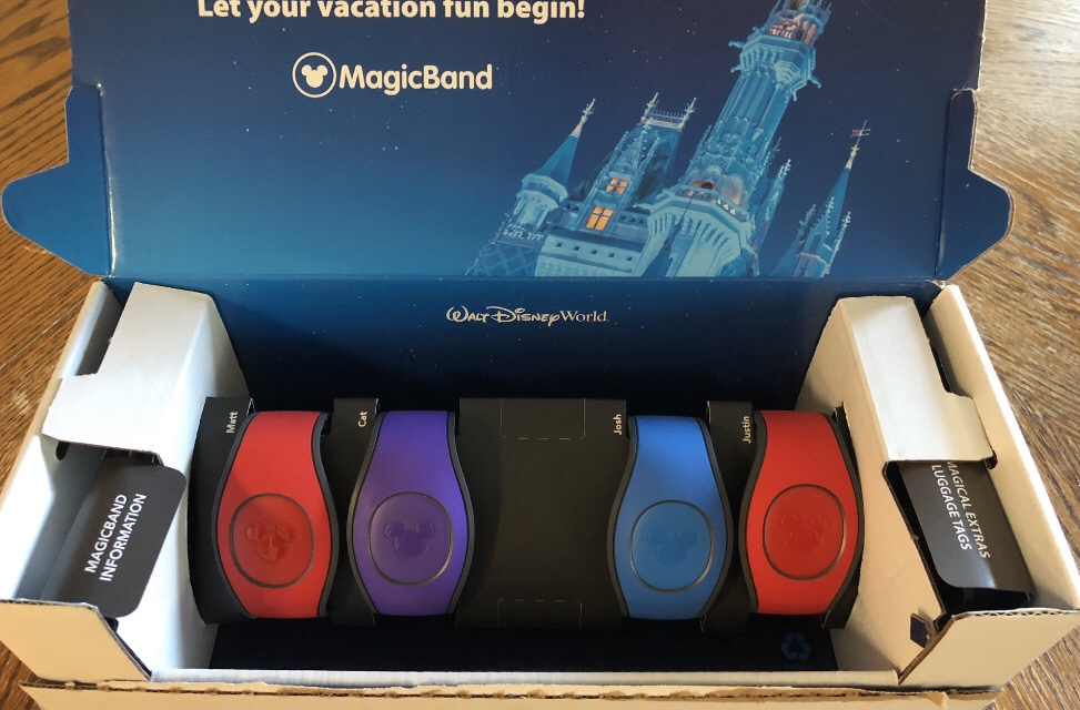MagicBands in their original shipping box