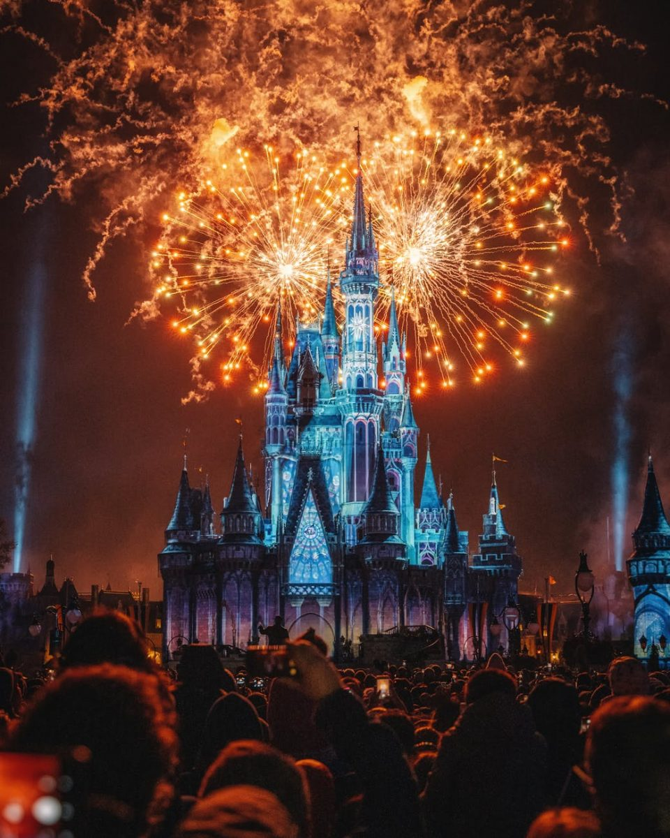 Walt Disney World fireworks at night