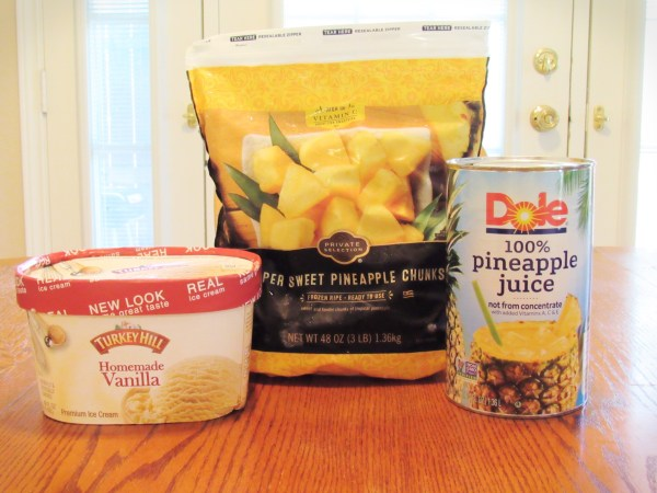 Ingredients to make Dole Whip at home