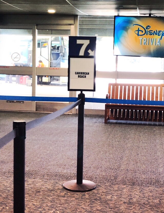 Line for Disney's Magical Express at the Orlando International Airport
