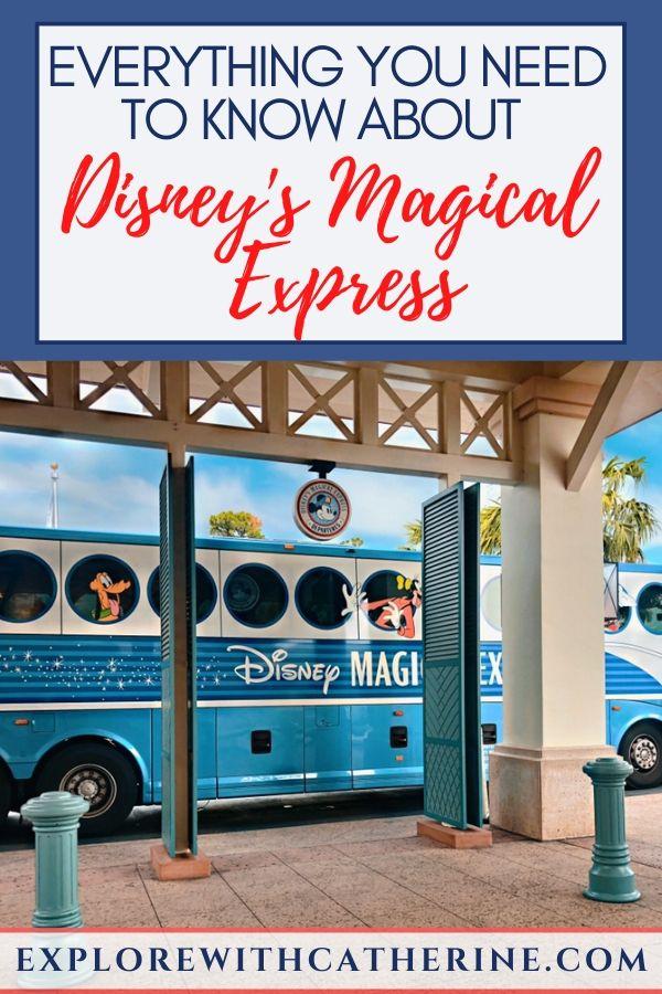 Disney's Magical Express waiting at the bus stop at Disney's Caribbean Beach Resort