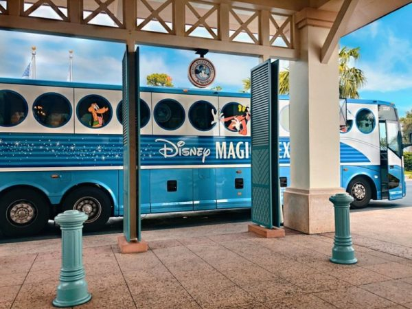 Disney's Magical Express waiting at the bus stop