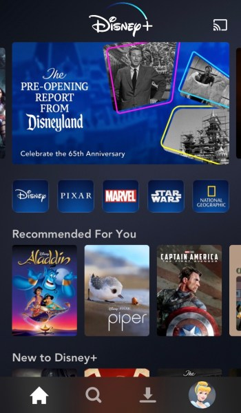 Disney+ App Screenshot