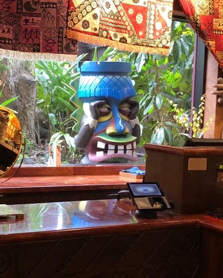 A peeping tom Tiki in the gift shop at Disney's Polynesian Village Resort
