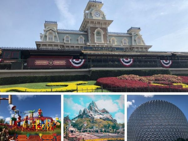 All 4 of Walt Disney World's Theme Parks