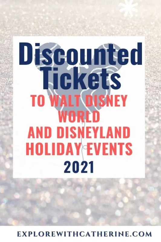 Discounted Tickets to Walt Disney World And Disneyland Holiday Events