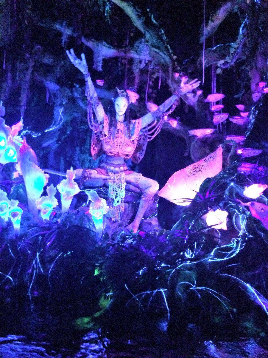 Shaman in the Na'vi River Journey Attraction in Animal Kingdom