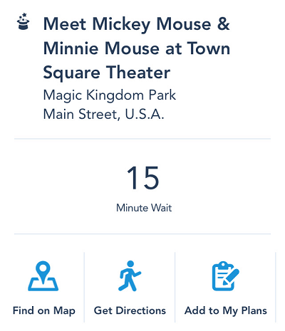 My Disney Experience App - Location, Map, Directions, and current wait time