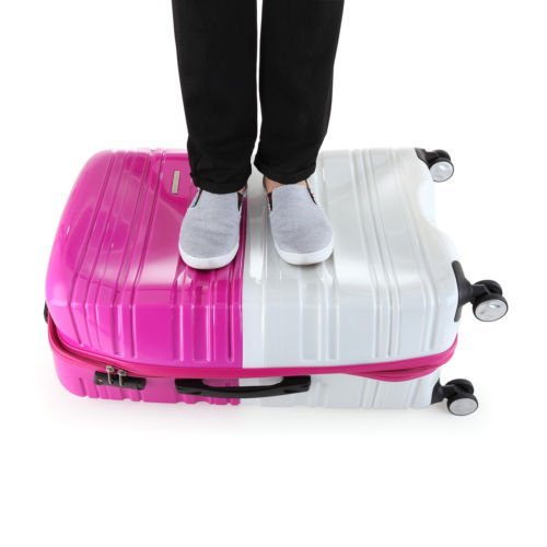 luggage pink and white3