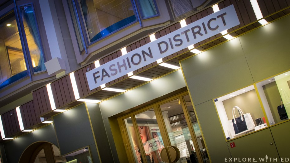 Fashion district on Explorer of the Seas, Royal Caribbean, Promenade Deck