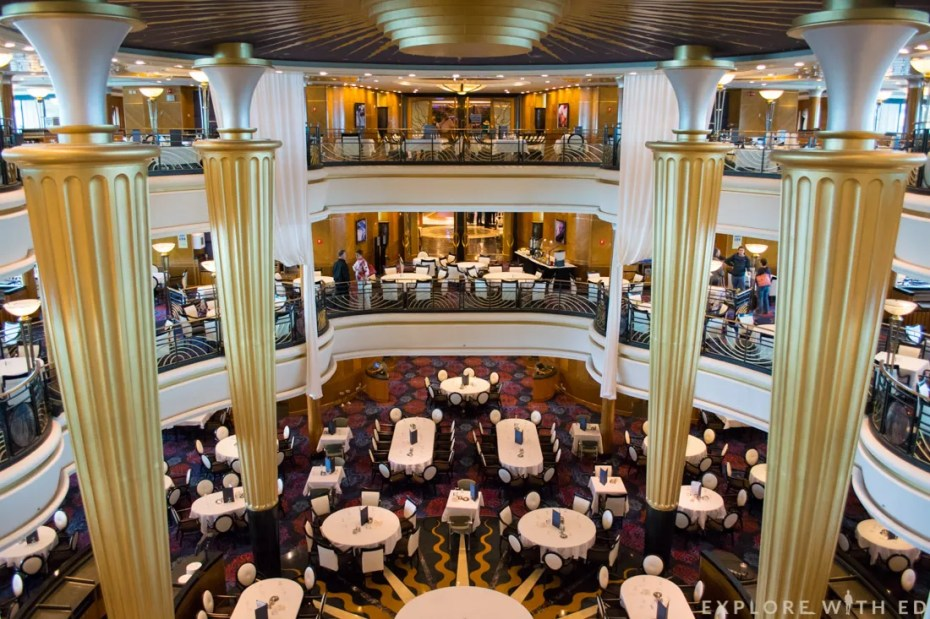 Main Dining Room Explorer of the Seas, Royal Caribbean, Sapphire on Explorer