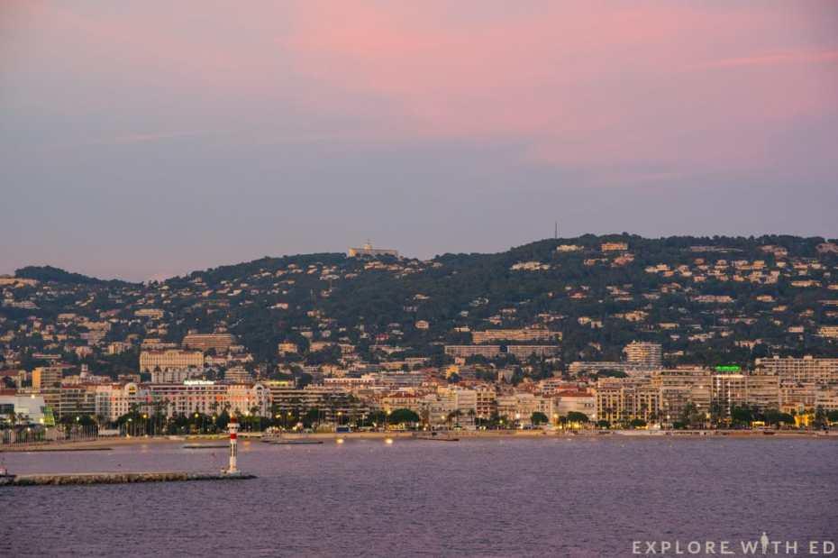 Cannes coastline, French Riviera, Norwegian Epic