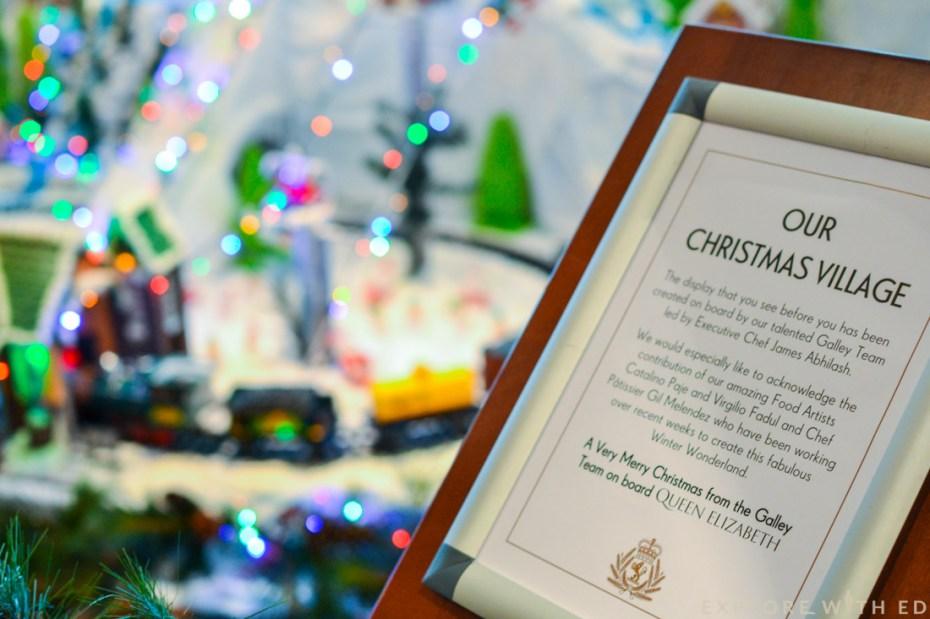 Gingerbread Village Cunard Queen Elizabeth, Christmas