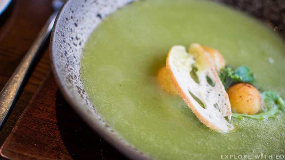 Newbridge on Usk homemade soup of the day, Leek and potato soup