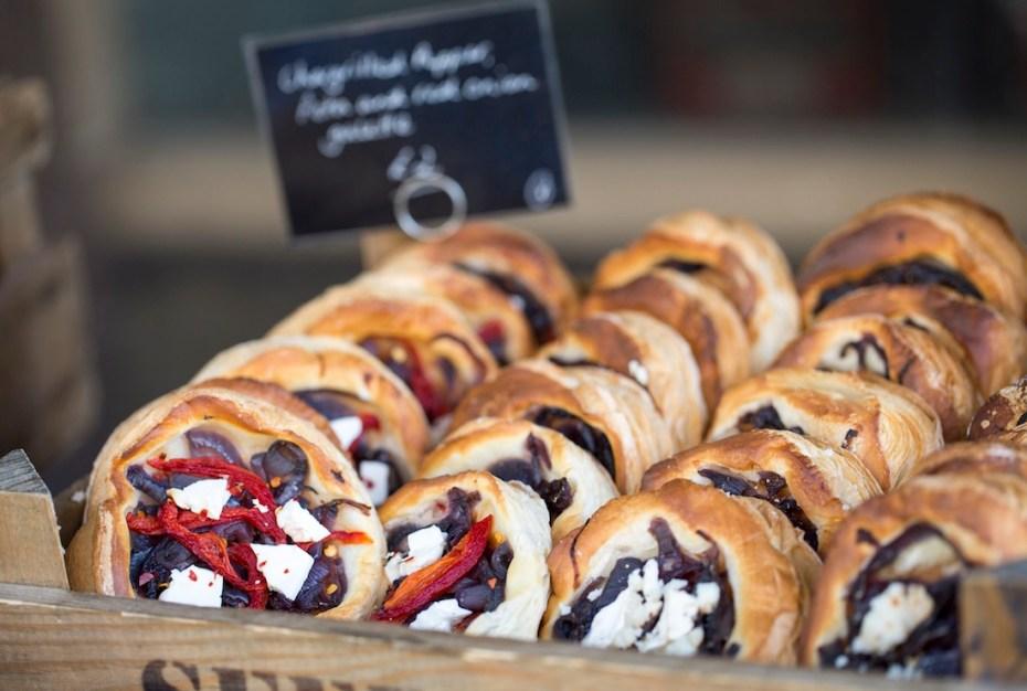 Food stalls at Abergavenny Food Festival