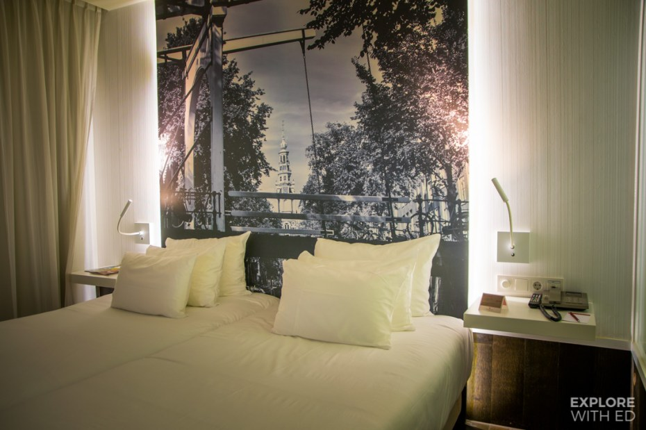 Double room at NH Collection Grand Hotel Krasnapolsky in Amsterdam