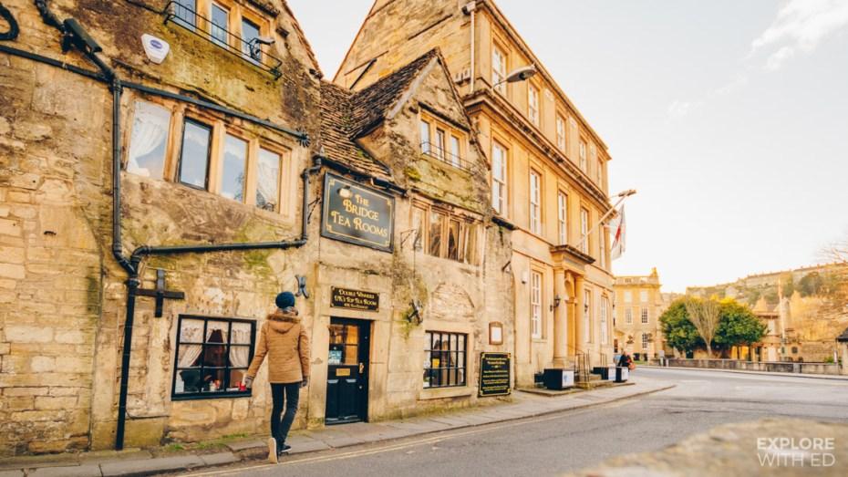 The award winning Bridge Tea Rooms in Bradford-on-Avon