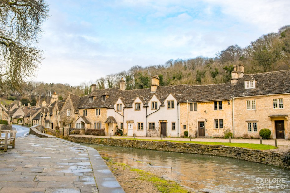 Sleepy Cotswold village in Wiltshire