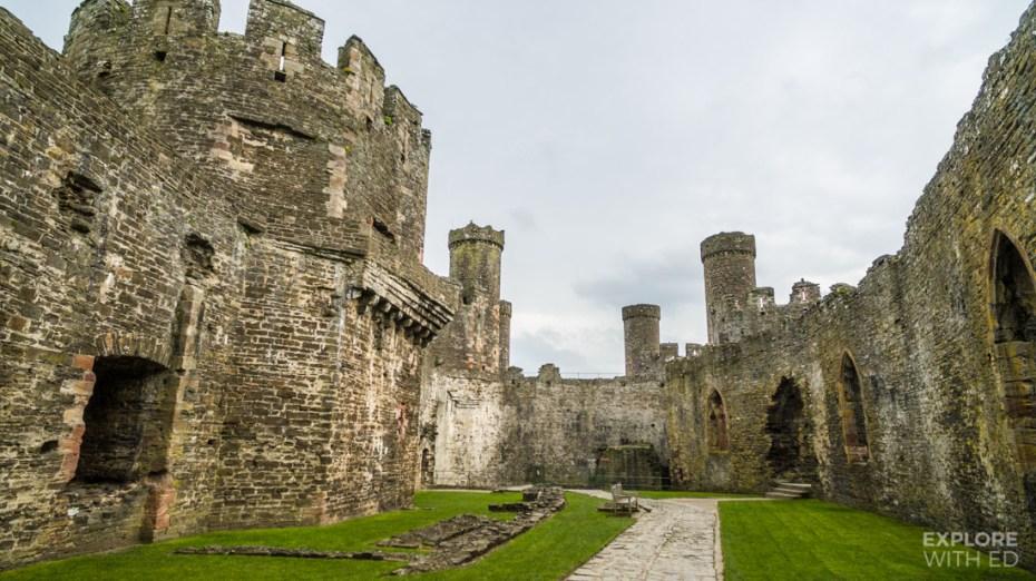 Inside Conwy Castle in Wales